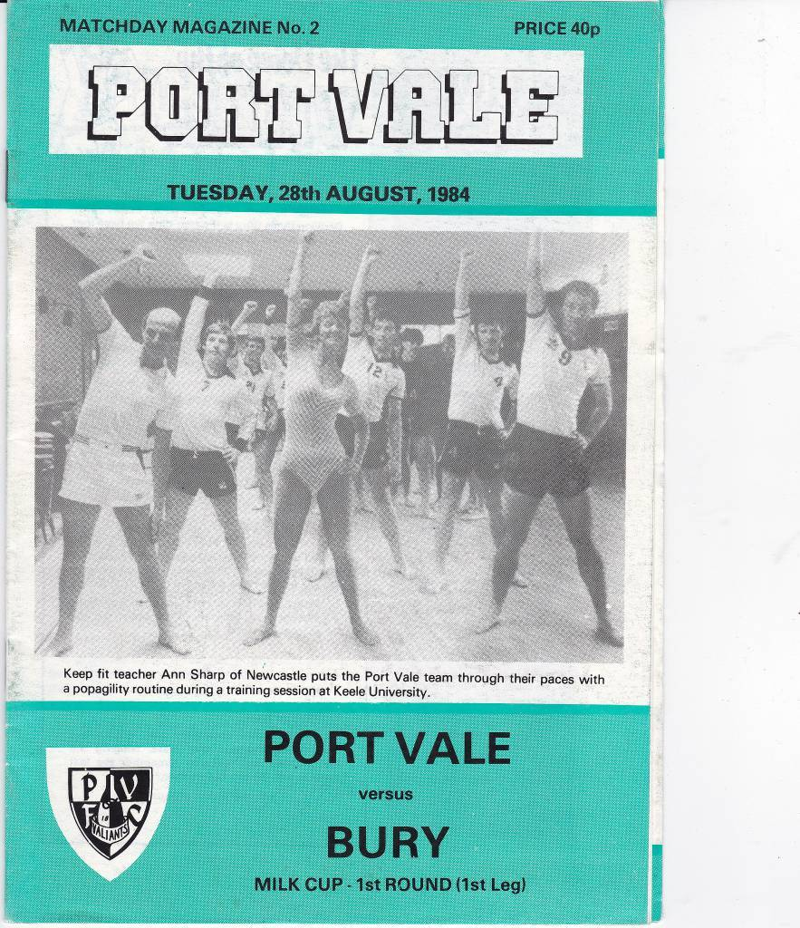 Port Vale vs Bury - 1984
