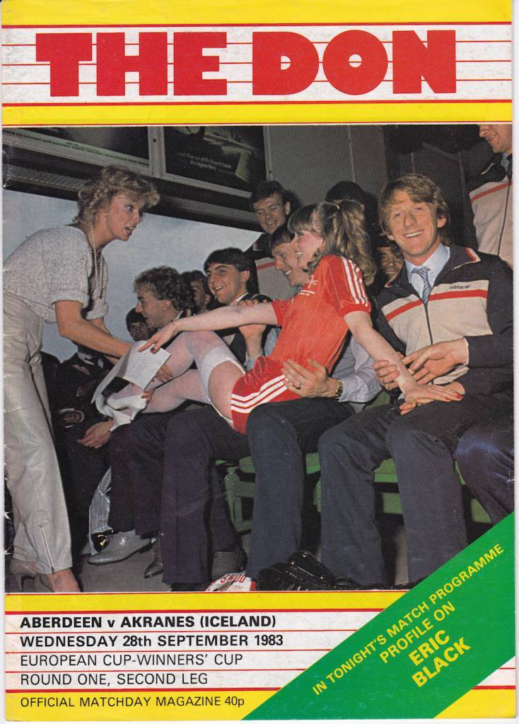 "Aberdeen vs IA Akranes - 1983: The defending Cup Winners Cup holders and the quite brilliant ""Tricia"" cover."
