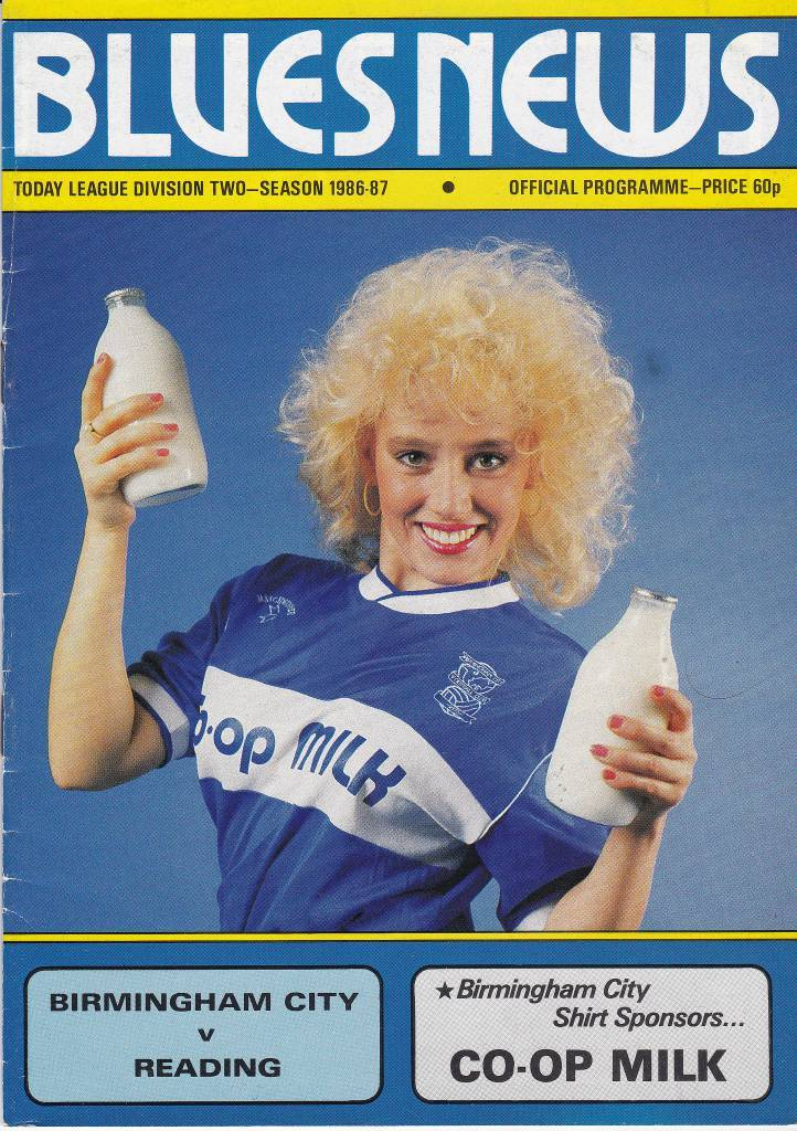 Birmingham City vs Reading - 1987  The lovely Noreen brings the milk and we bring you the action as Birmingham host Reading