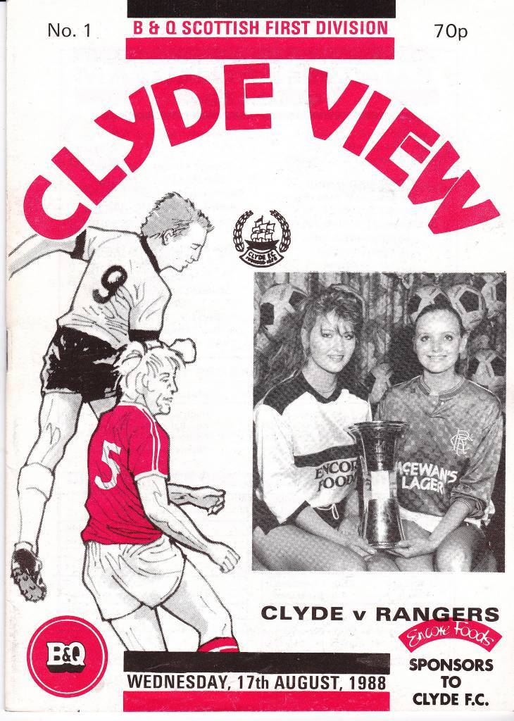 Clyde vs Rangers - 1988 - Cover Page
