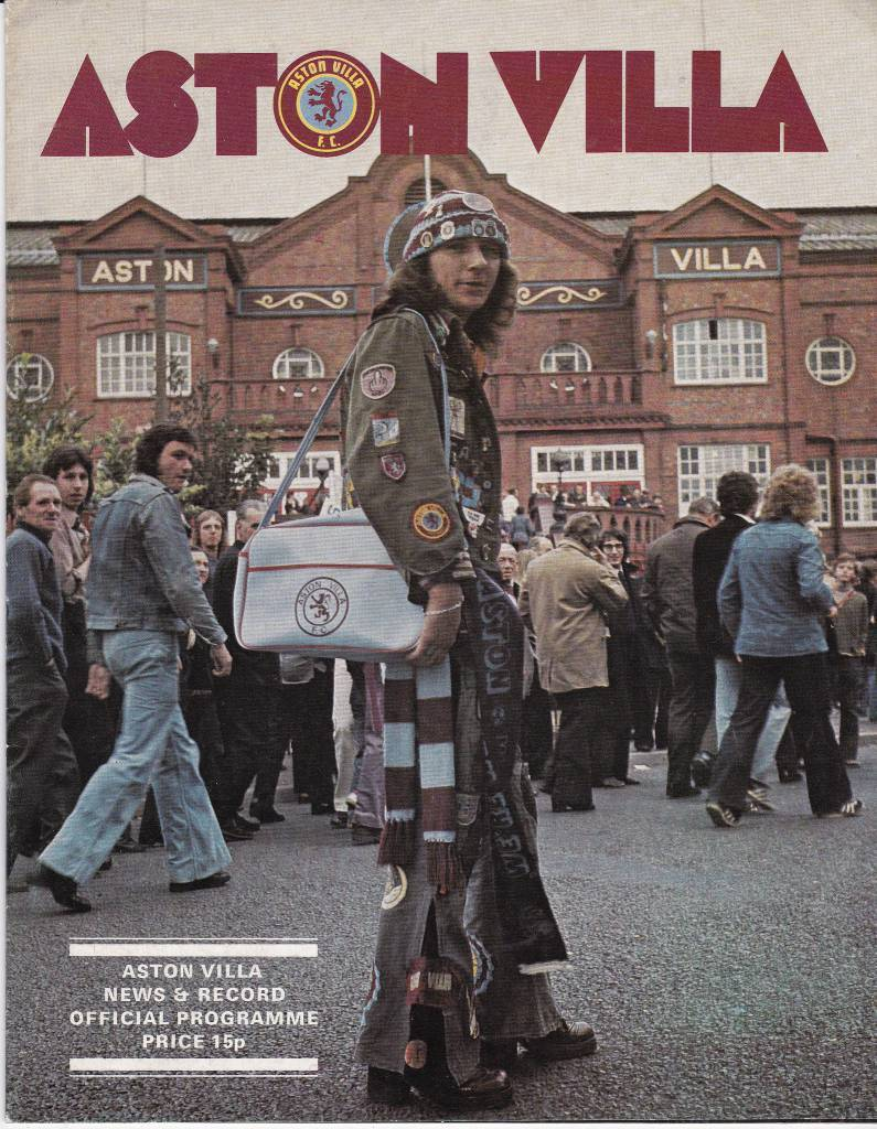 Aston Villa vs Manchester United - 1976 - Cover Page  Let's this stylish fellow welcome you to Villa Park as Aston Villa host Manchester United in 1976