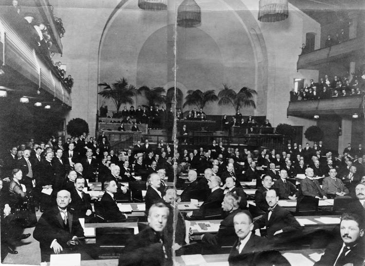 The 1st meeting of the League of Nations