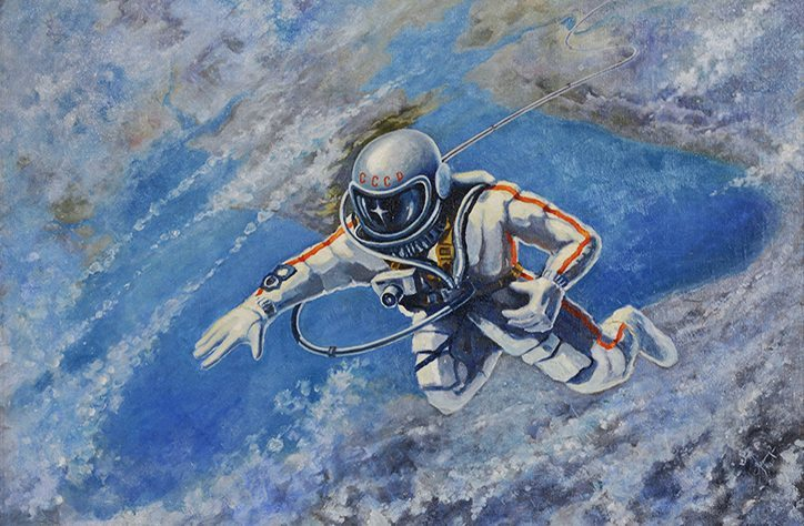 Alexei Leonov, Over the Black Sea, 1973, C. The Memorial Museum of Cosmonautics