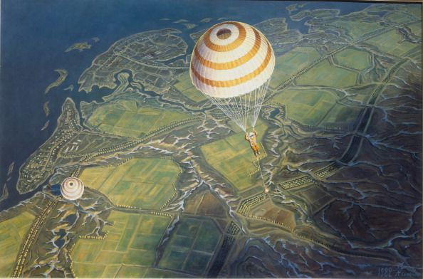 Before landing on Earth, 1982. Found in the collection of the Central Artist's House, Moscow. (Photo by Fine Art Images/Heritage Images/Getty Images)