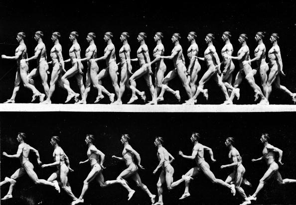 Chronophotograph Shows Walking & Running