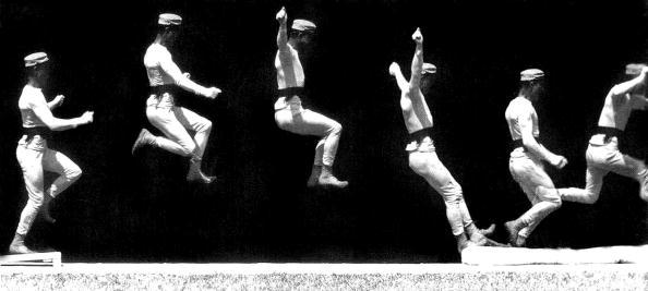 Man jumping, chronophotography by Etienne-Jules Marey, c. 1887