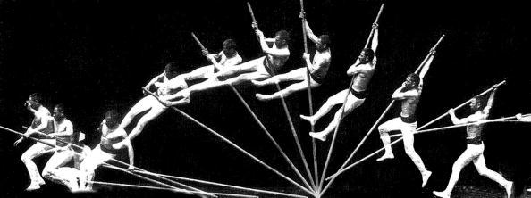Pole vault, chronophotography by Etienne-Jules Marey, 1887