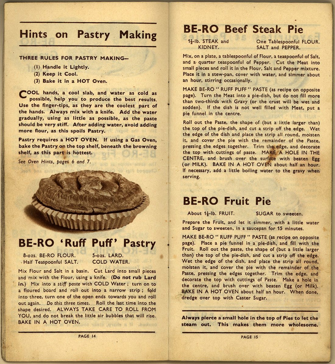 Be Ro Home Recipes Scones Cakes Pastry Puddings A