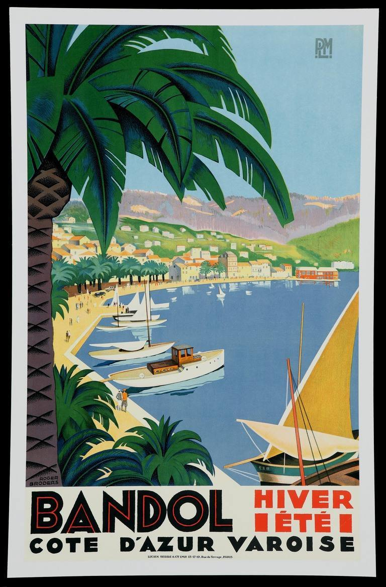 15 beautiful french art deco travel posters by roger broders flashbak. Black Bedroom Furniture Sets. Home Design Ideas