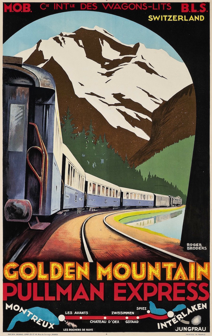 Golden Mountain Pullman Express, c.1930.