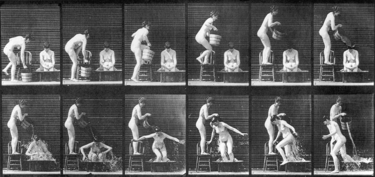 circa 1885:  A series of experimental pictures demonstrating Eadweard Muybridge's theory of human locomotion.  (Photo by Eadweard Muybridge/Getty Images)