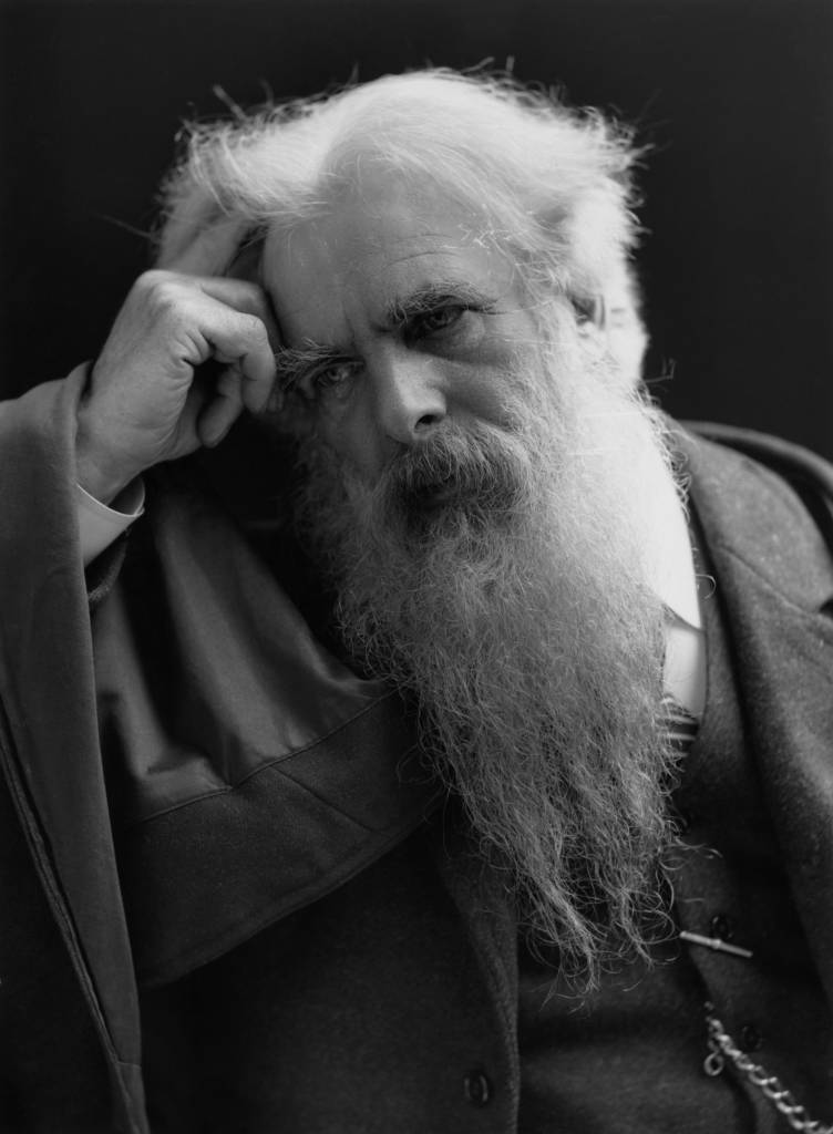 English photographer Eadweard Muybridge (1930 - 1904), circa 1900. (Photo by Rischgitz/Hulton Archive/Getty Images)