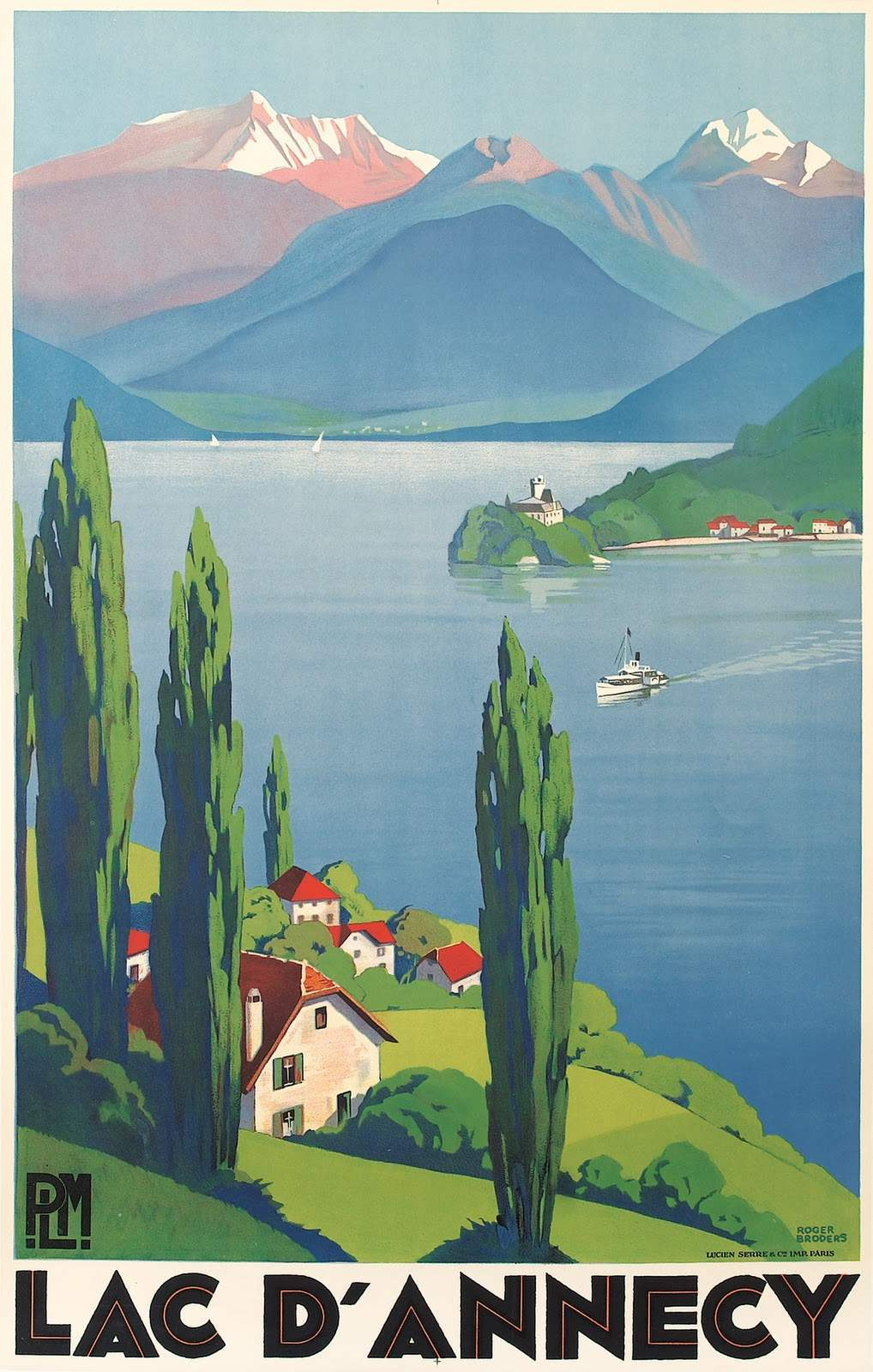 The Lake at Annecy, 1930.
