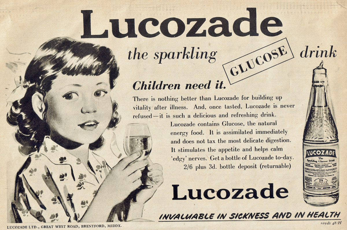 Nineteen Classic Vintage Lucozade Ads From The 1950s