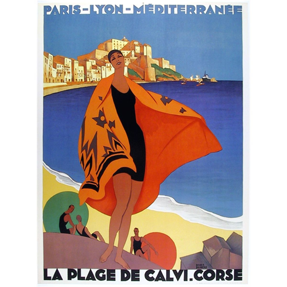 15 beautiful french art deco travel posters by roger. Black Bedroom Furniture Sets. Home Design Ideas