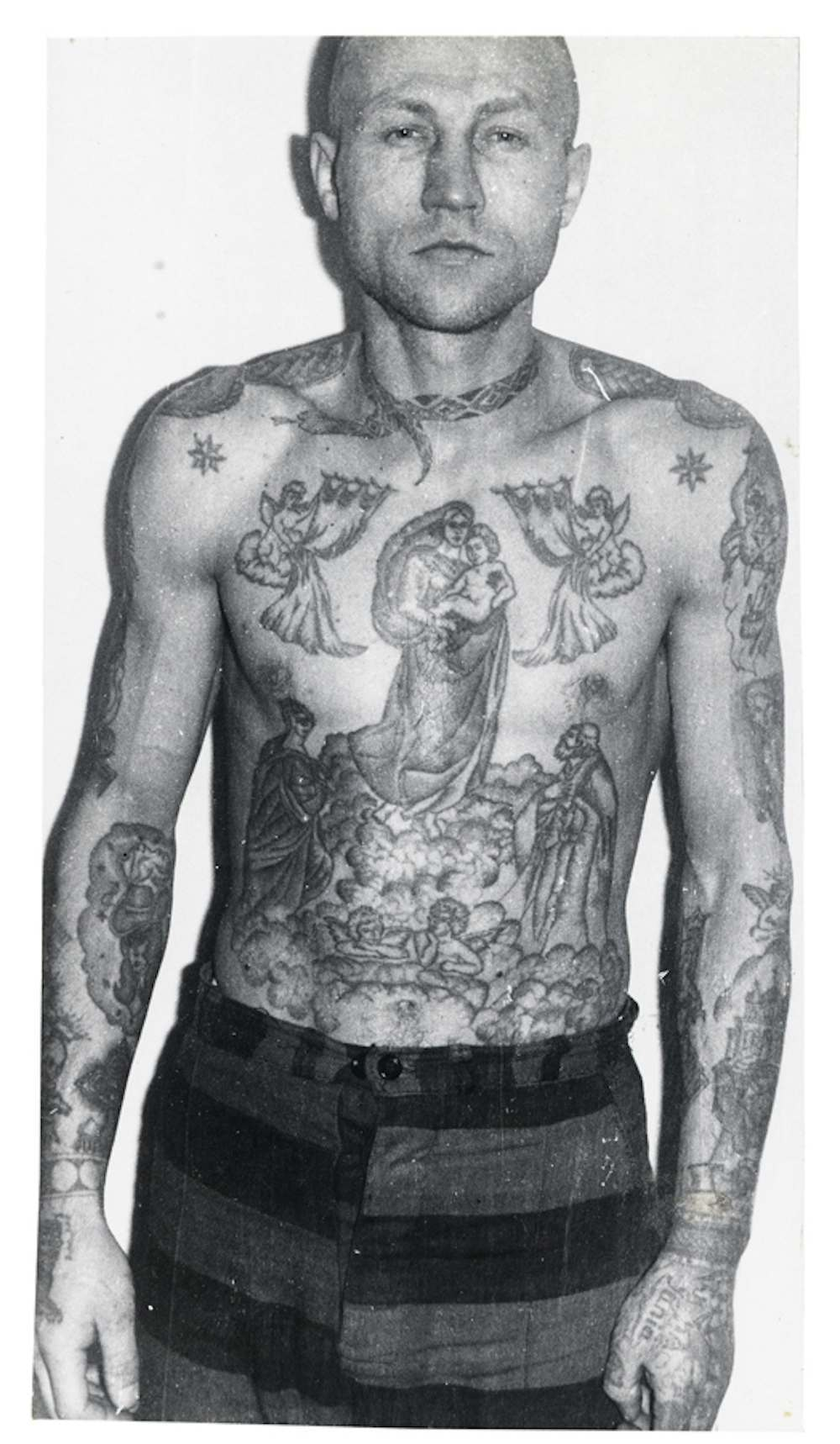 Russian criminal tattoo police files decoding the mark of for Drug addiction tattoos