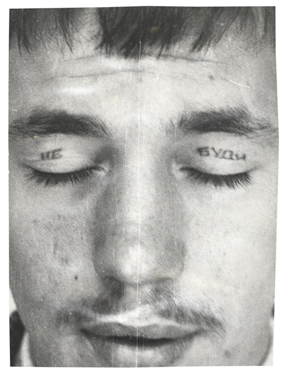Russian criminal tattoo police files decoding the mark of for Prison eye tattoos