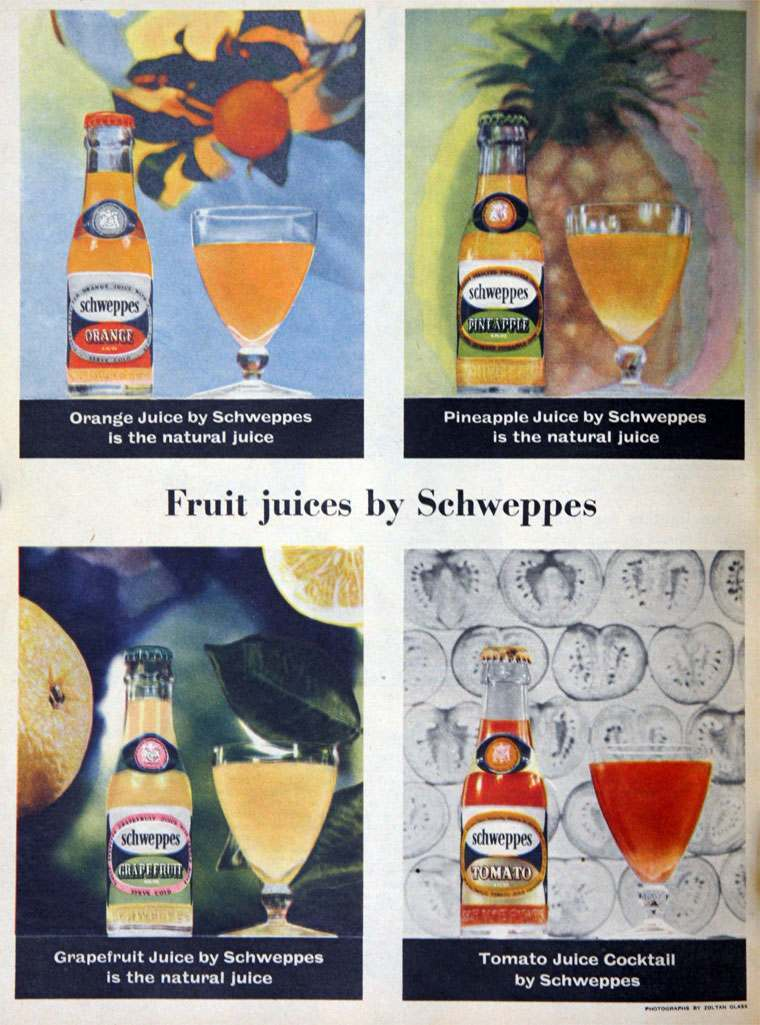 Schweppes April 1955