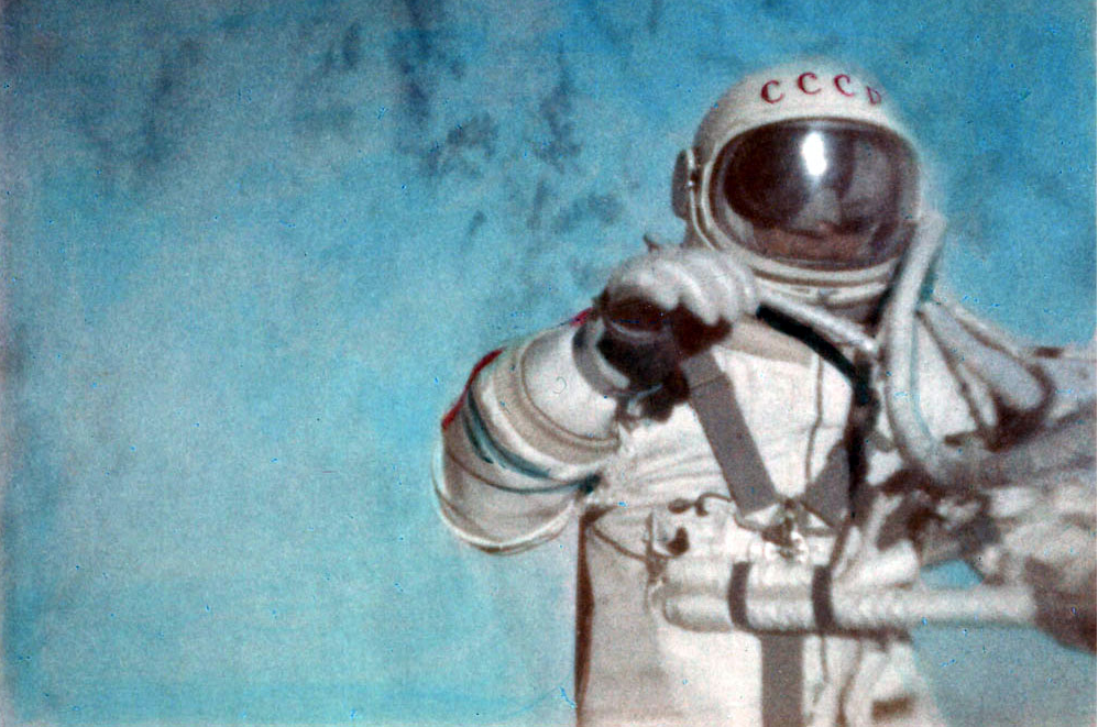Archived image from the FAI report certifying the first spacewalk by Russian cosmonaut Alexei Leonov on March 18, 1965. (FAI)