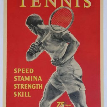 Seventeen Glorious Tennis posters 1895-1956