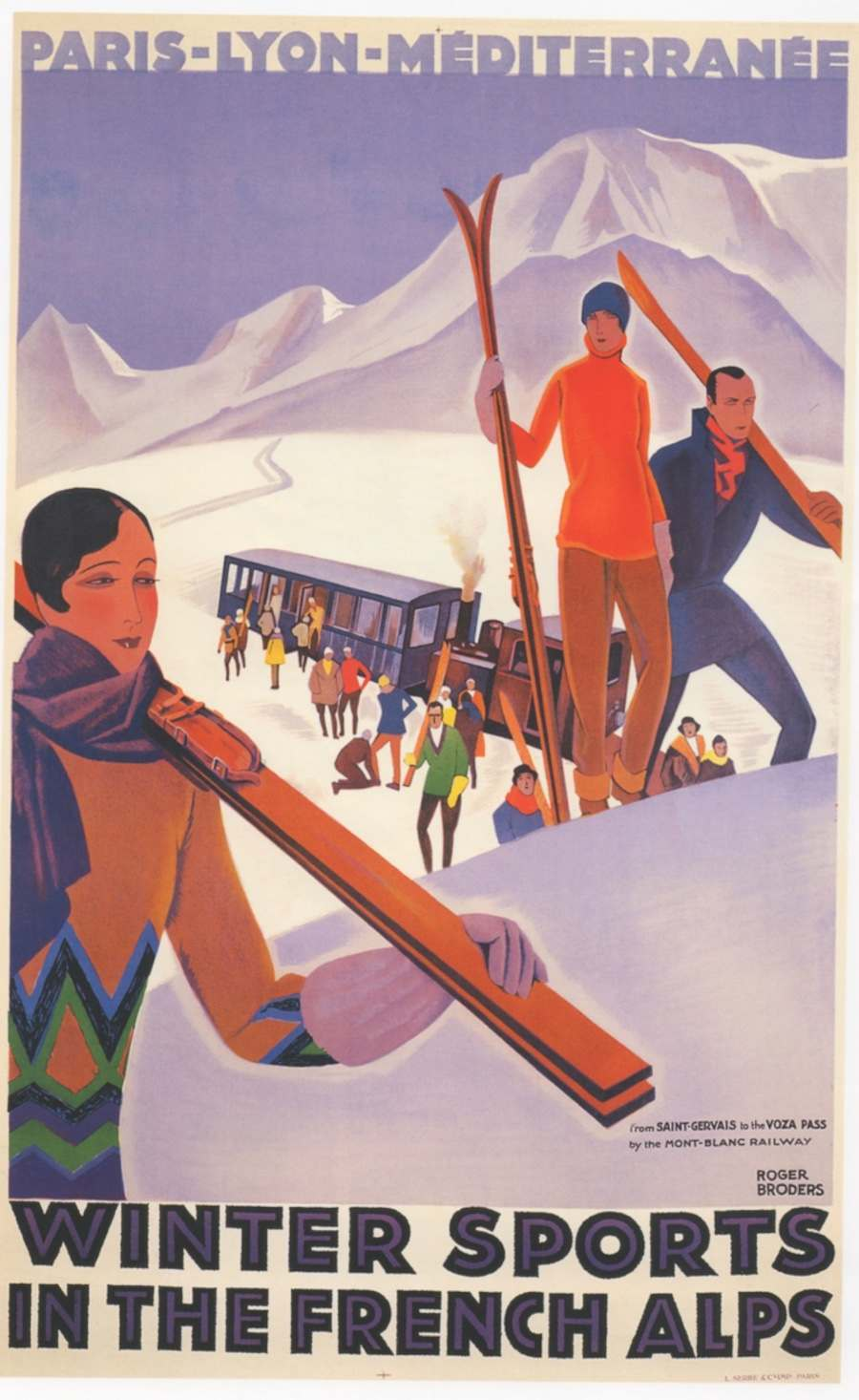 Winter sports in the French Alps c.1930.