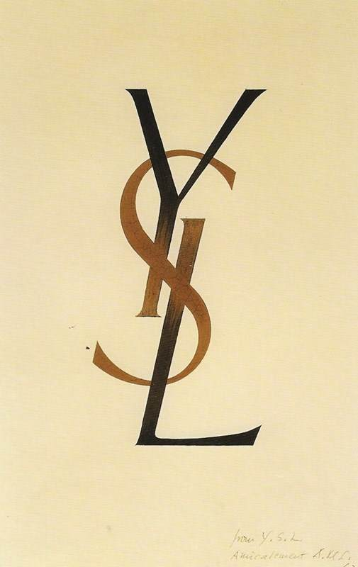 YSL logo, 1961By Adolphe Mouron Cassandre