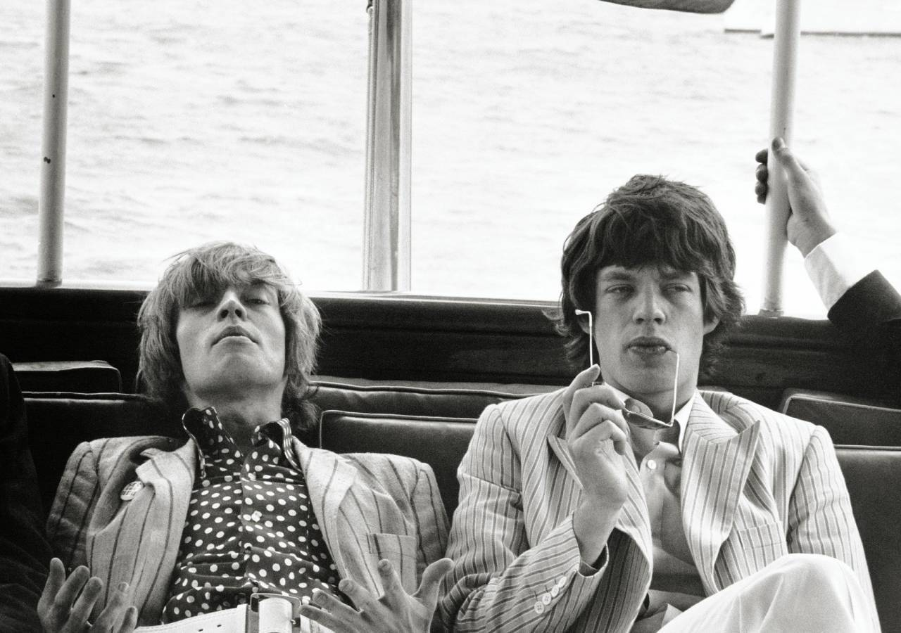 Brian Jones and Mick Jagger New York 1966