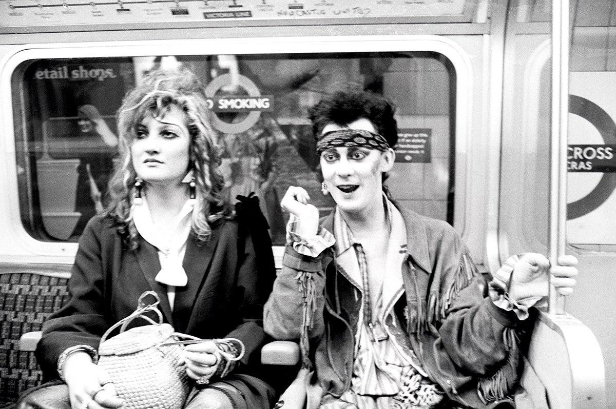Clare Thom. Stephen Linard on their way to see Spandau Ballet  1981