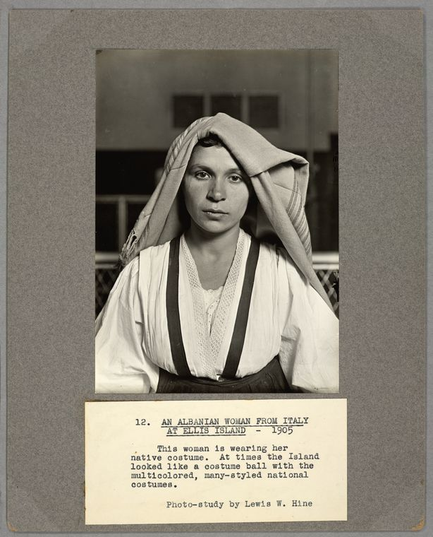 An Albanian woman from Italy at Ellis Island, 1905