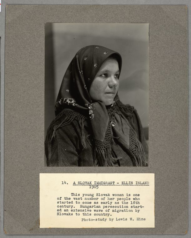 A Slovak Immigrant, Ellis Island, 1905