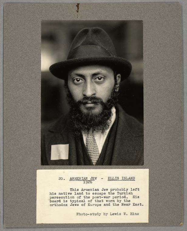Armenian Jew, Ellis Island, 1926