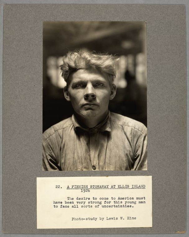 A Finnish stowaway at Ellis Island, 1926