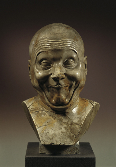 Franz Xaver Messerschmidt, An intentional Wag, c. 1770 Gypsum Alabaster Height 42 cm