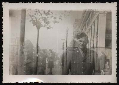 1940s ww2 man soldier double exposure