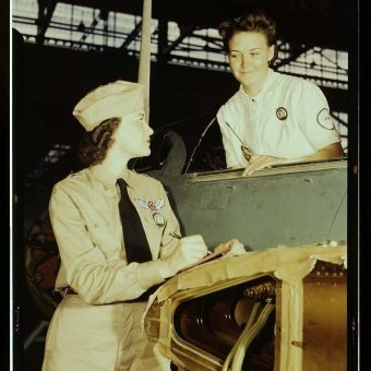 Women Workers at a Naval Air Base in Texas 1942