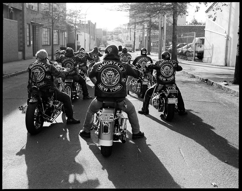 Immortals was shot in NY of a Motorcycle club who I documented. © Hunter Barnes/Reel Art Press