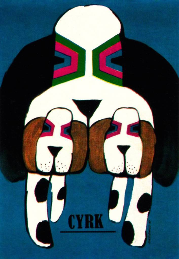 From a series of posters for the Polish Circus. Artist Roman Cieslewicz. From Gebrauchsgraphik No. 12, 196