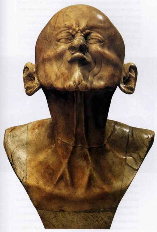 Franz Xaver Messerschmidt, Second Beak Head, c. 1770 Gypsumalabaster Height 43 cm