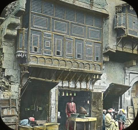 Arabic Window and Native Bazaar, Cair