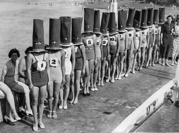 Beauty contest in Cliftonville. Photograph. 1936.  (Photo by Austrian Archives (S)/Imagno/Getty Images)