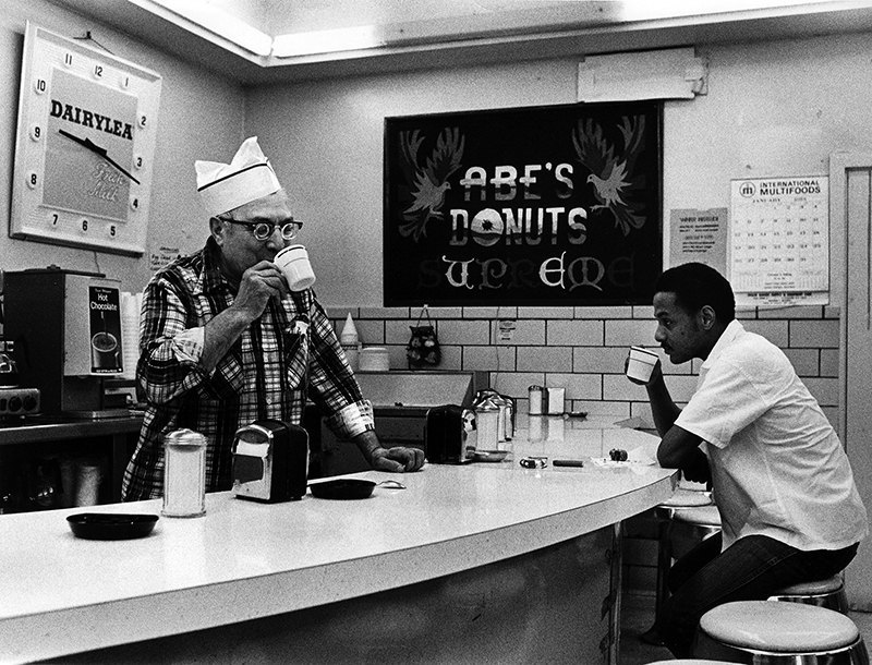 Abe's Donut Shop - Syracuse, 1975.