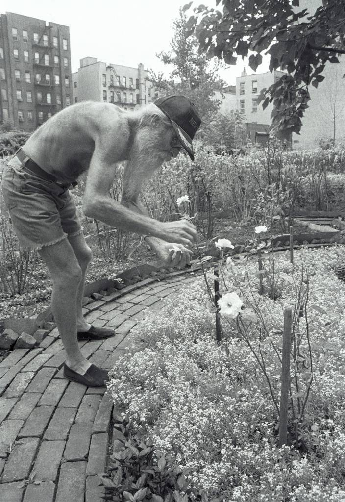 Adam Purple tending his Urban Garden in 1984