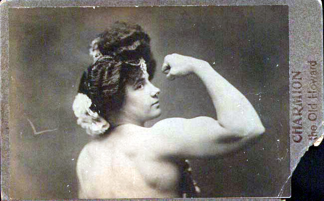 Charmion (1875 - 1949), vaudeville strongwoman and trapeze artist