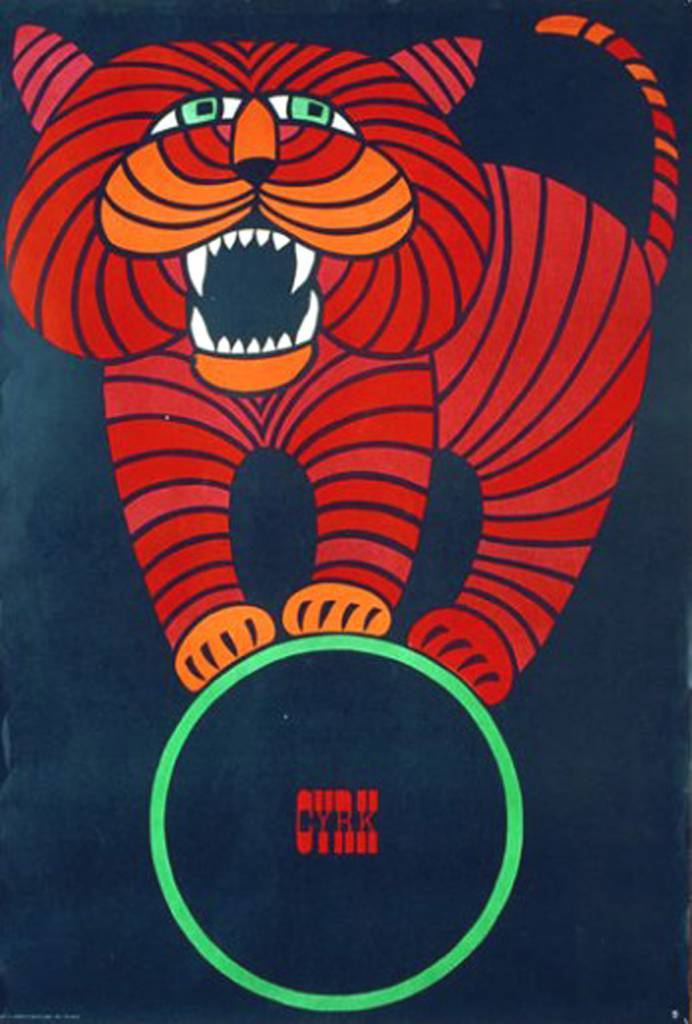"""Cyrk"" poster designed by Hubert Hilscher (1924-1999), Poland (1966)"