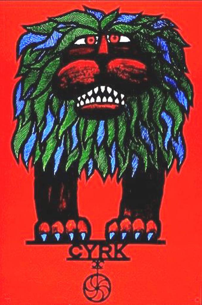 """Cyrk"" poster designed by Hubert Hilscher (1924-1999), Poland (1967)"