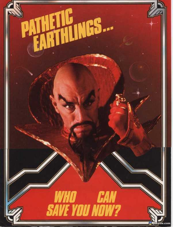 #FlashGordon pinball table flyer, 1980 1