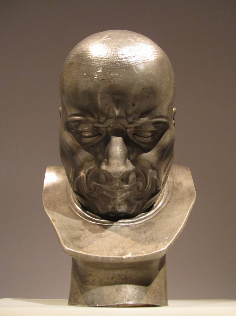 A Hypocrite and Slanderer by Franz Xaver Messerschmidt. Tin alloy, 1770-1783