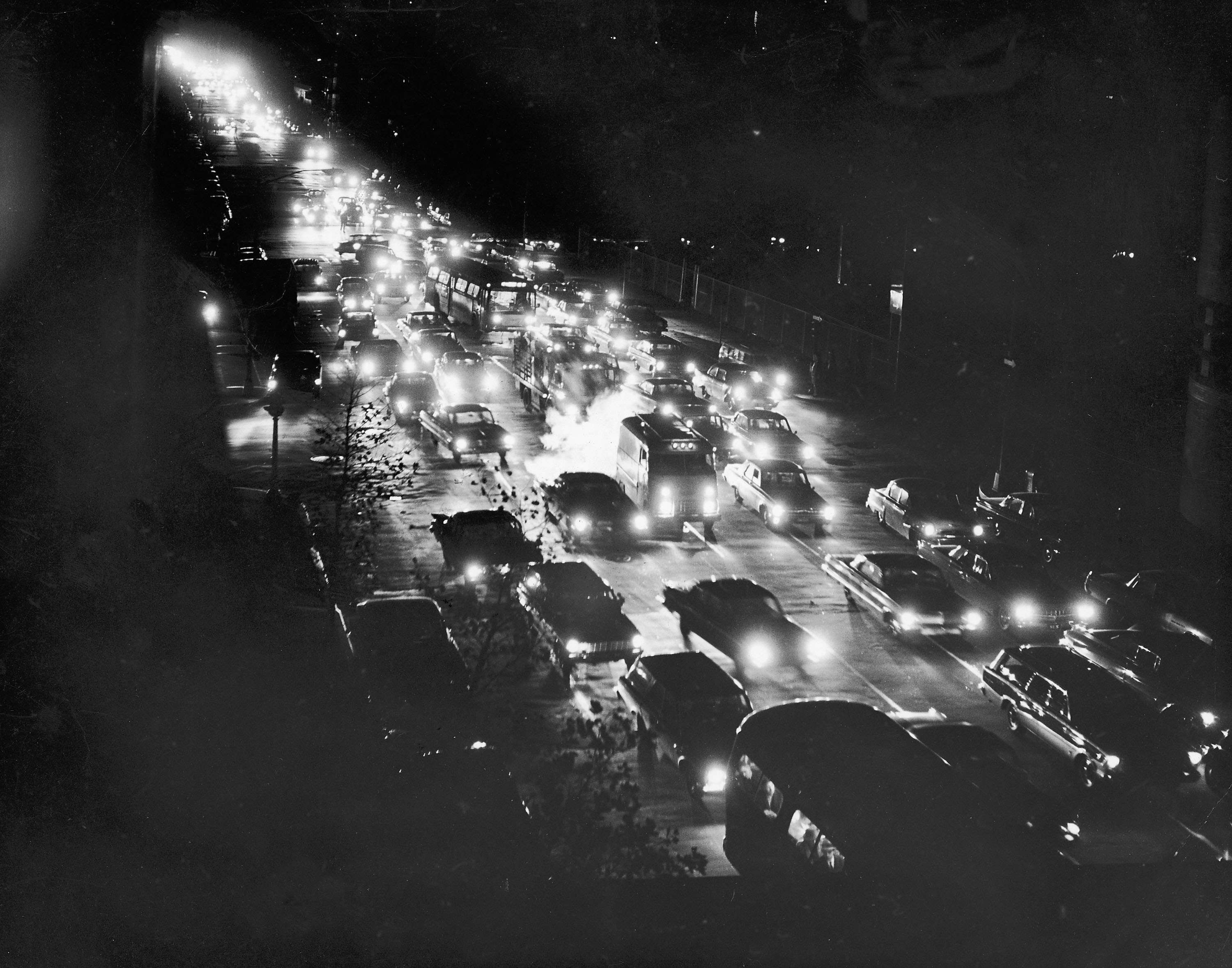the blackout hear the eerie broadcast when new york went dark new york 9 file photo a high angle view of