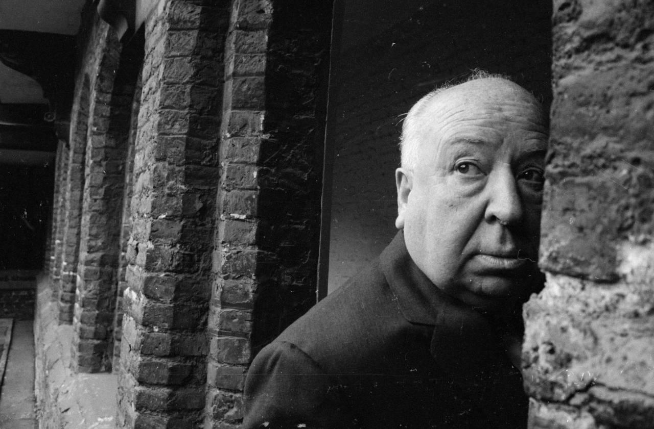 3rd May 1966:  British film director Alfred Hitchcock (1899 - 1980) in Cambridge.  (Photo by Peter Dunne/Express/Getty Images)