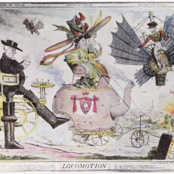 Dire Warnings From 1820 On The Perils Of Steam-Powered Walking And Flying